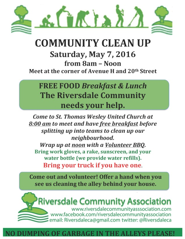 COMMUNITY CLEAN UP -  2016