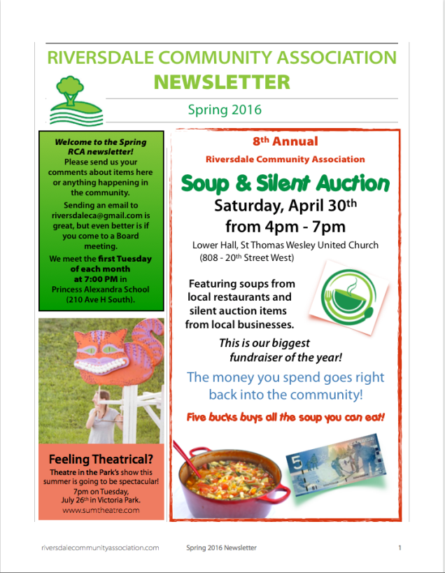 RCA newsletter Apr 2016 p1